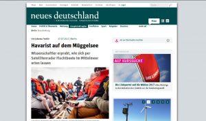 Ausschnitt aus dem Beitrag der Zeitung Neues Deutschland